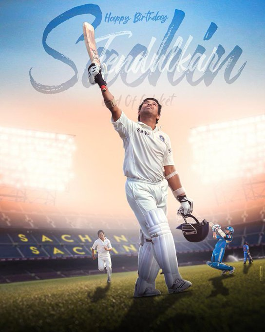 Happy 4  8  th Birthday Wishes to God Of Cricket SACHIN TENDULKAR
