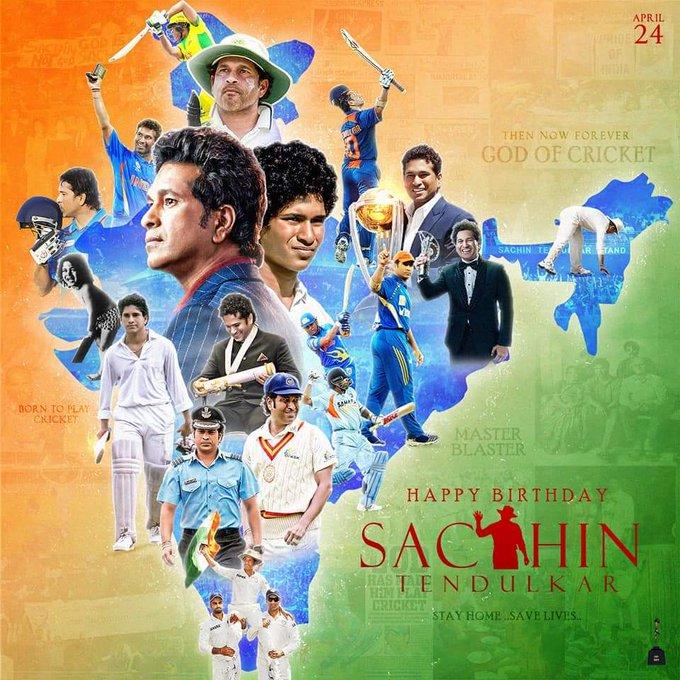 Happy Birthday To God Of Cricket Master Blaster Sachin Tendulkar