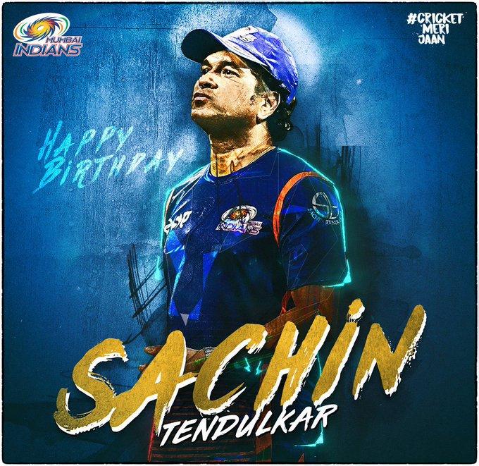 Happy birthday Sir Sachin Tendulkar