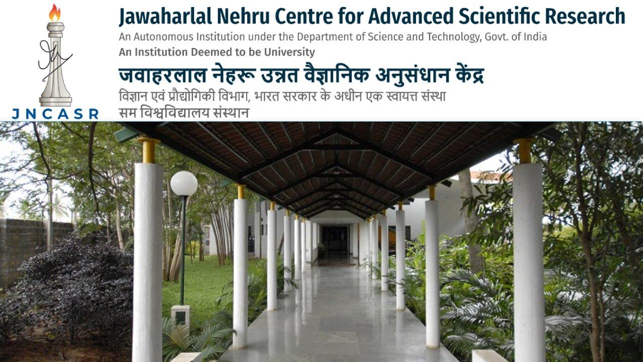 Research Associate Position at JNCASR, Bengaluru, Karnataka Pay Rs.47,000/- plus 24% HRA