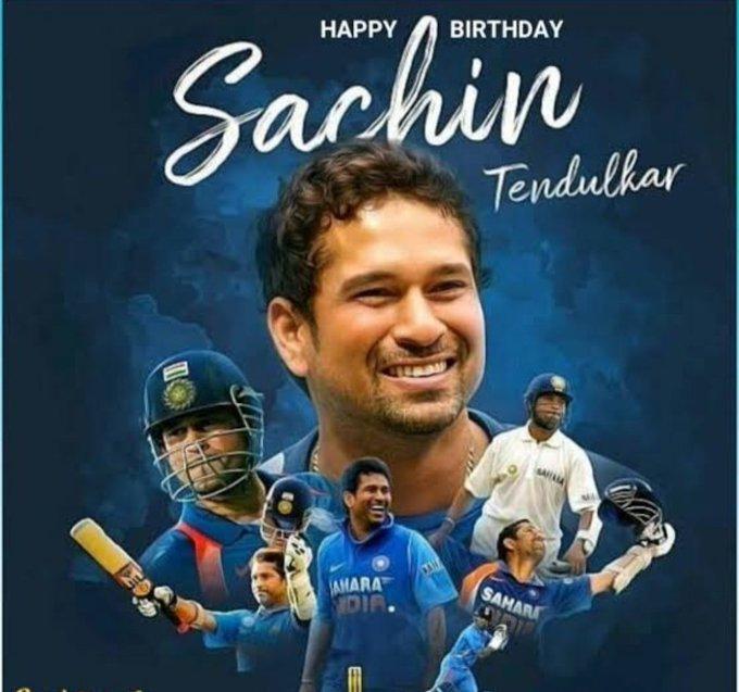 Happy birthday    Sachin Tendulkar Ji