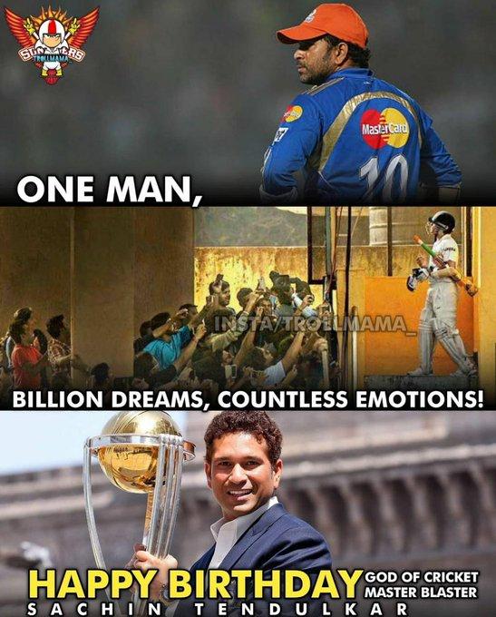 Happy Birthday god of cricket master blaster Sachin Tendulkar