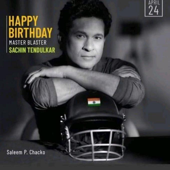 1973 April 24  ........................................  Happy Birthday wishes to the Legend Sachin Tendulkar .