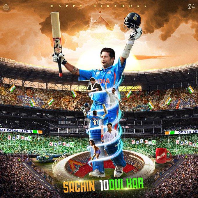 Wishing a Very Happy Birthday to Master Blaster Sachin tendulkar....