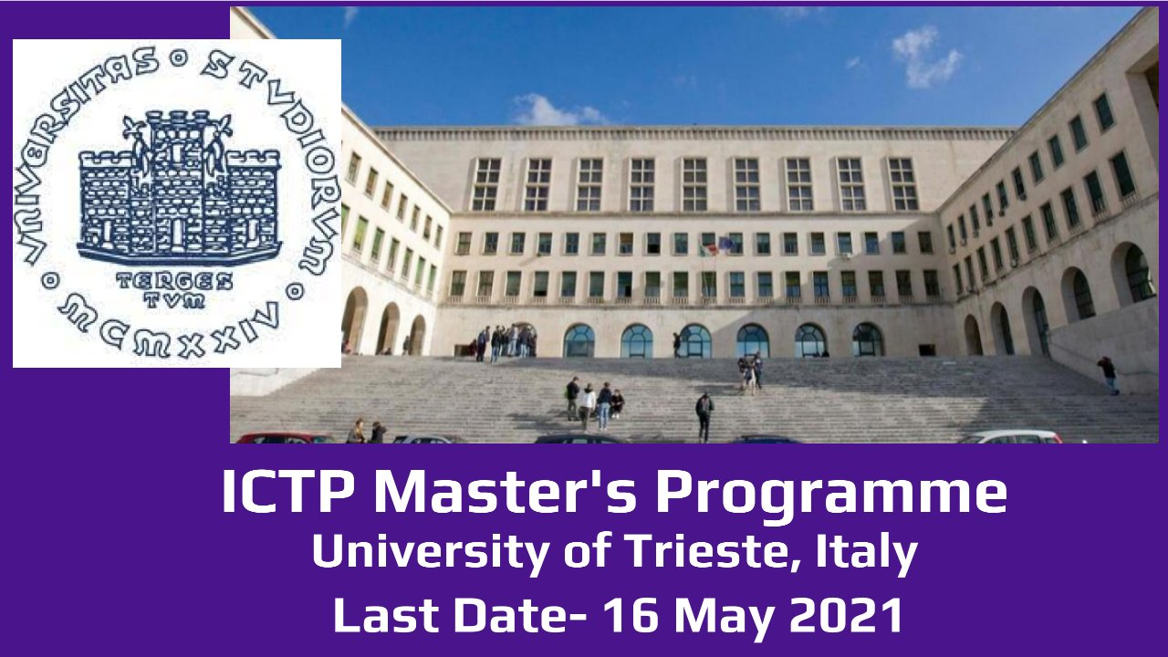 ICTP Master's Programme by University of Trieste, Italy