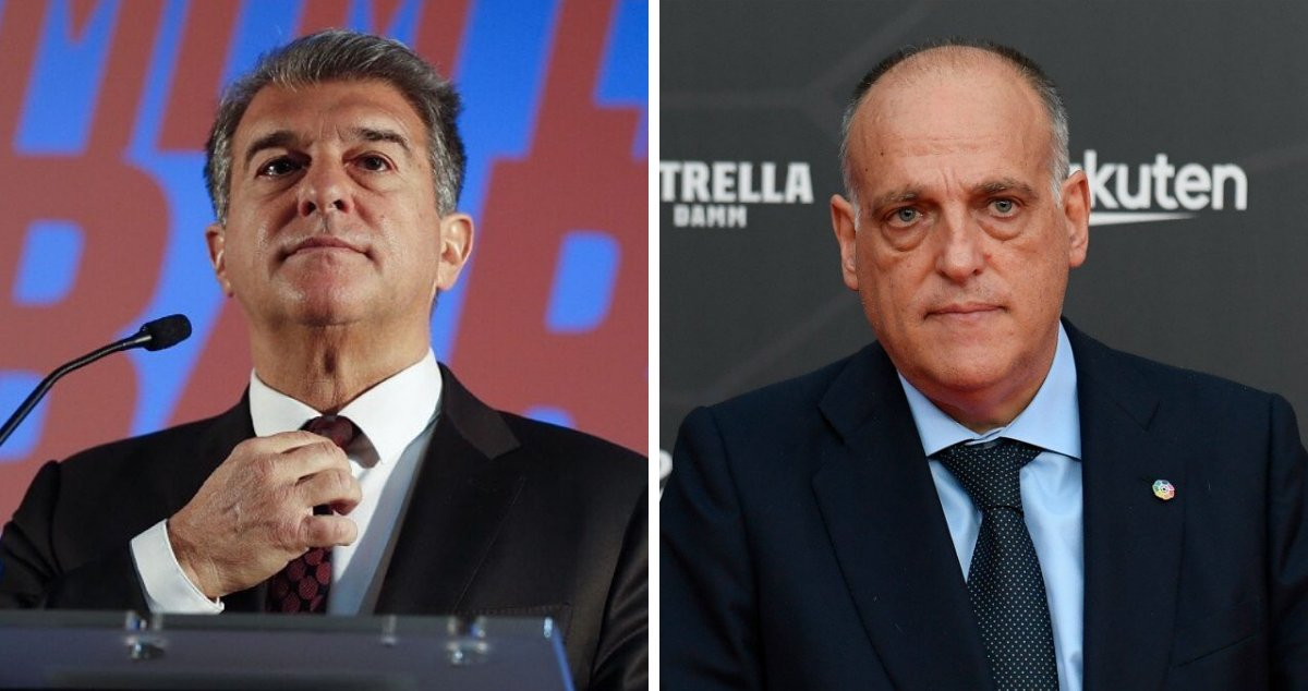"""Barça Universal on Twitter: """"Last Thursday, Joan Laporta warned Javier Tebas about the imminent announcement of the Super League. He said that 6 teams were signed up already, and the others would"""
