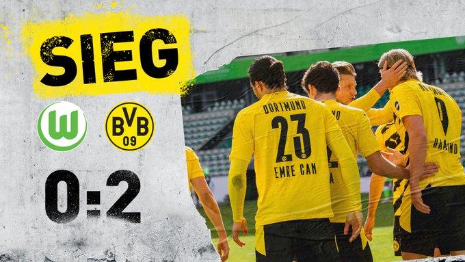 Skor akhir Wolfsburg 0-2 Borussia Dortmund