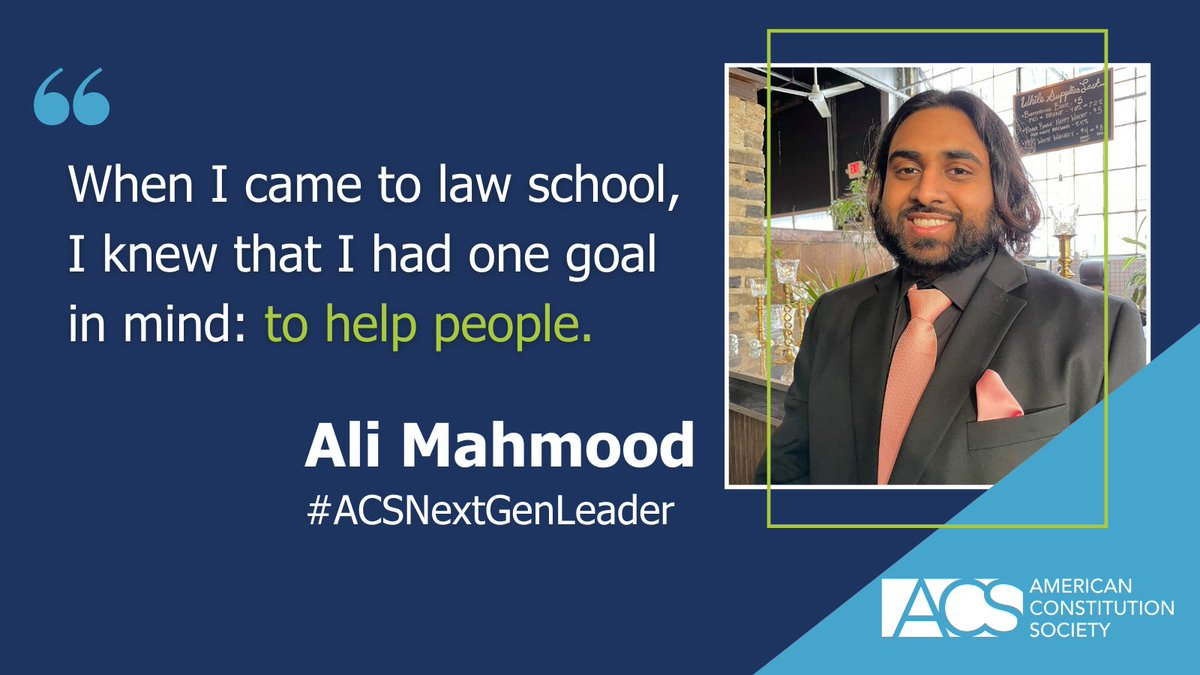 The 2021 Class of ACS Next Generation Leaders are 28 exceptional legal minds who share ACS's vision for advancing and defending democracy, justice, equality, and liberty: https://t.co/Cz5B21VW6C #ACSNextGenLeader https://t.co/DLkulocO6B