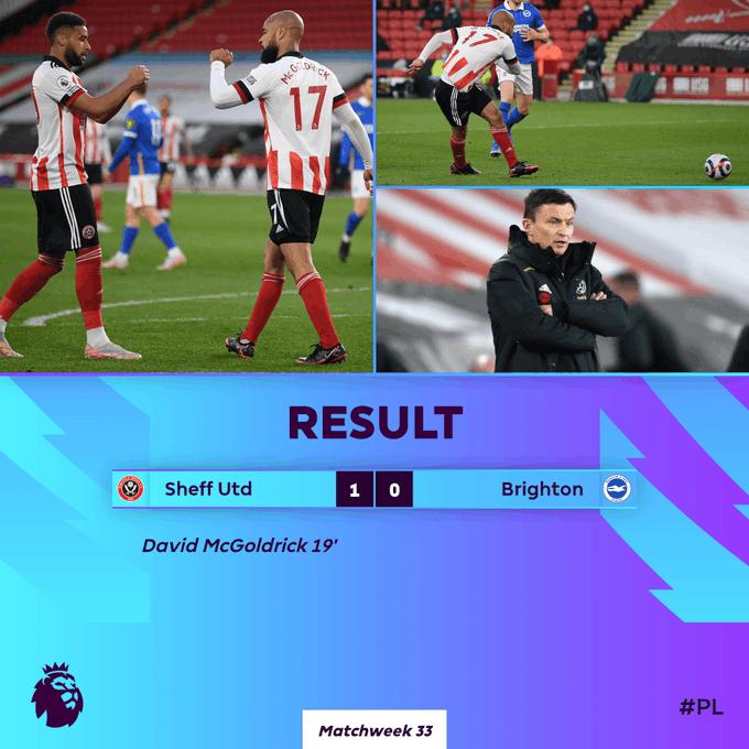 Skor akhir Sheffield United 1-0 Brighton & Hove Albion