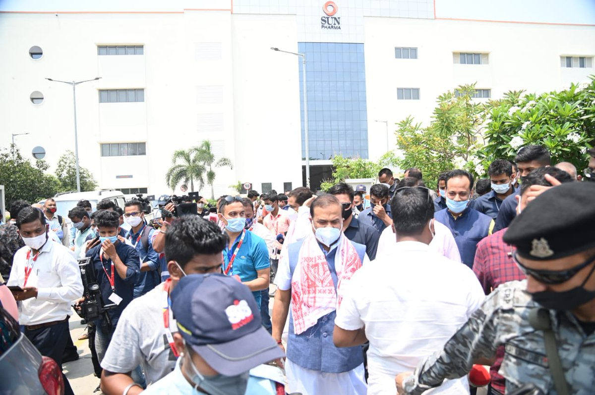 Thank you Shri @himantabiswa for all your support and encouragement. It was an honour to have you visit our manufacturing plant at Guwahati, Assam, India. Together, we remain committed to the fight against covid-19.
