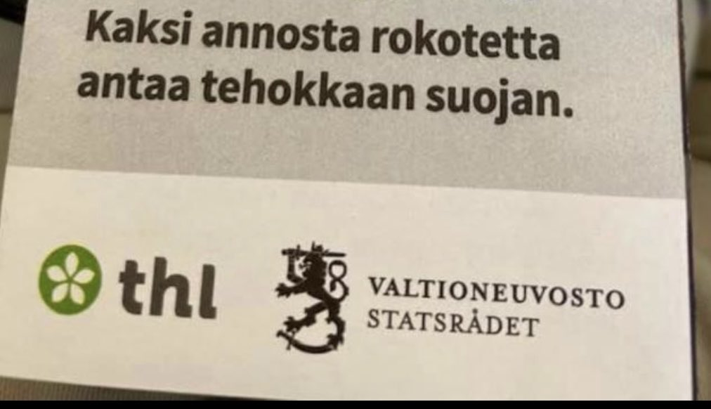 Jokaisen suomalaisen saaman rokotetodistuksen allekirjoittaja on Valtioneuvosto - siis hallitus😂. Eikä kukaan pidä sitä edes ihmeellisenä. Se muistuttaa sitä, kun Trump yritti allekirjoittaa jokaisen elvytyssekin. Mieluummin palkkakuittiin verojen kohdalle Valtioneuvosto. 😉 https://t.co/jHOn4H54ro