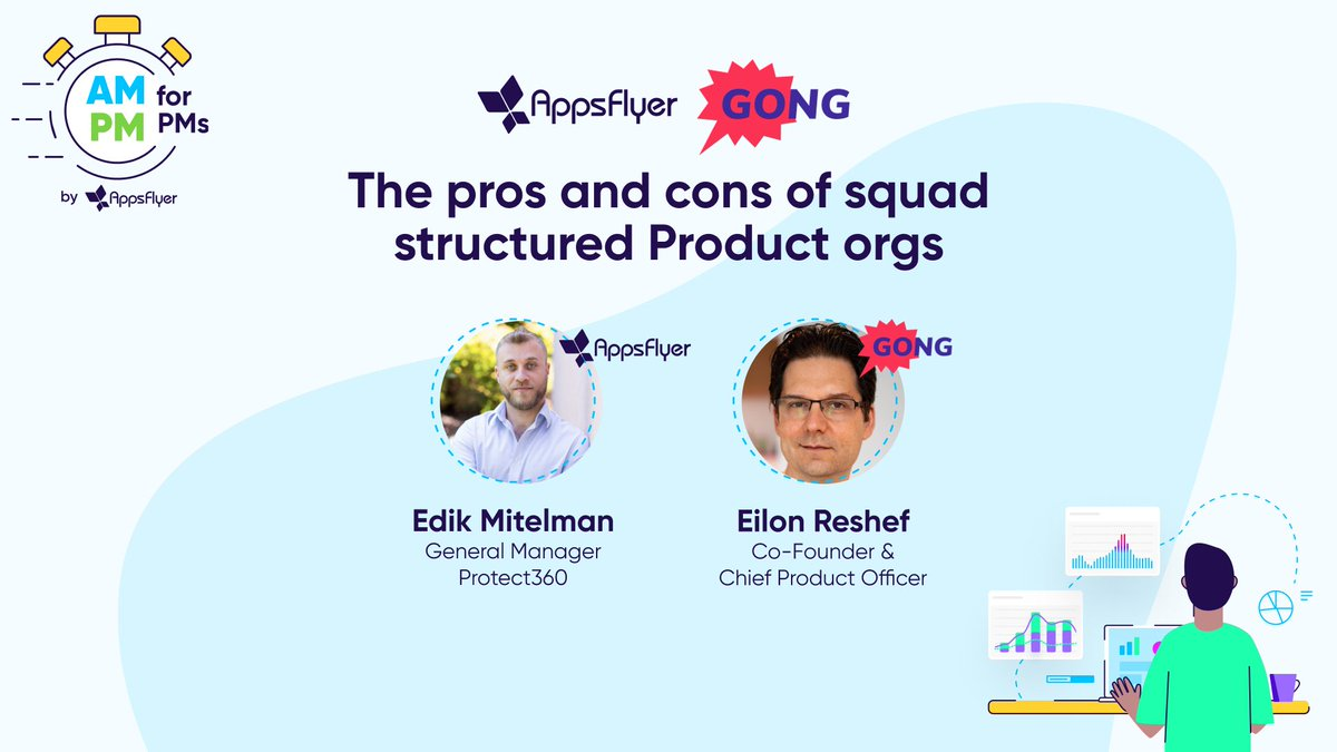 Last week we held a F2F meetup on the pros and cons of squad structured #product orgs at @AppsFlyer HQ! Thank you to our speakers @edikmit and @eilonreshef from Gong.io for sharing your insights during the talk! For those who missed it: youtube.com/watch?v=mssNRV…