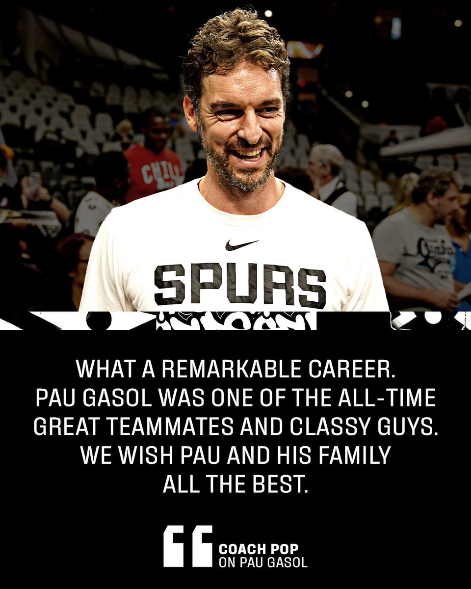 #ThankYouPau!   Congrats on an illustrious career and best of luck in your next chapter, @paugasol 👏