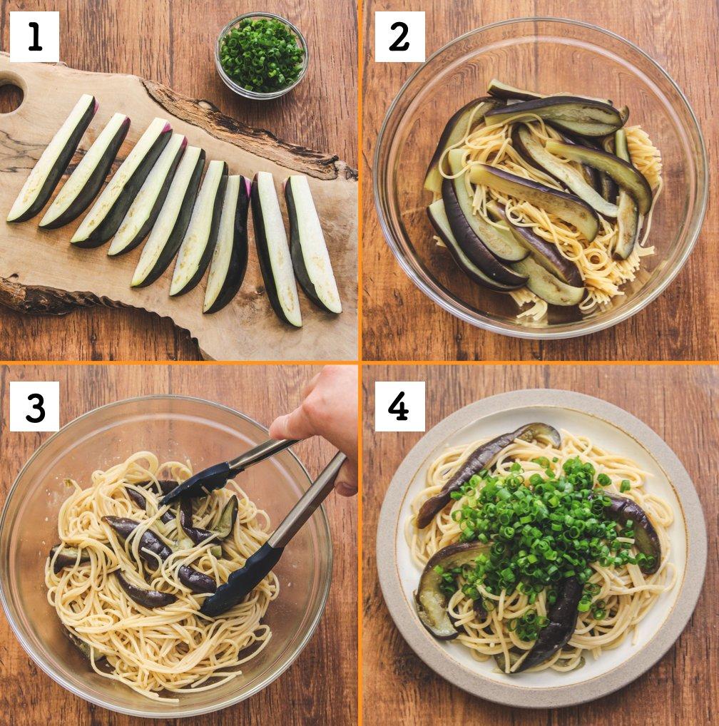 フライパンや鍋を使わずボウルひとつで作れちゃう?!ナス好きさんにはたまらないというパスタレシピ!