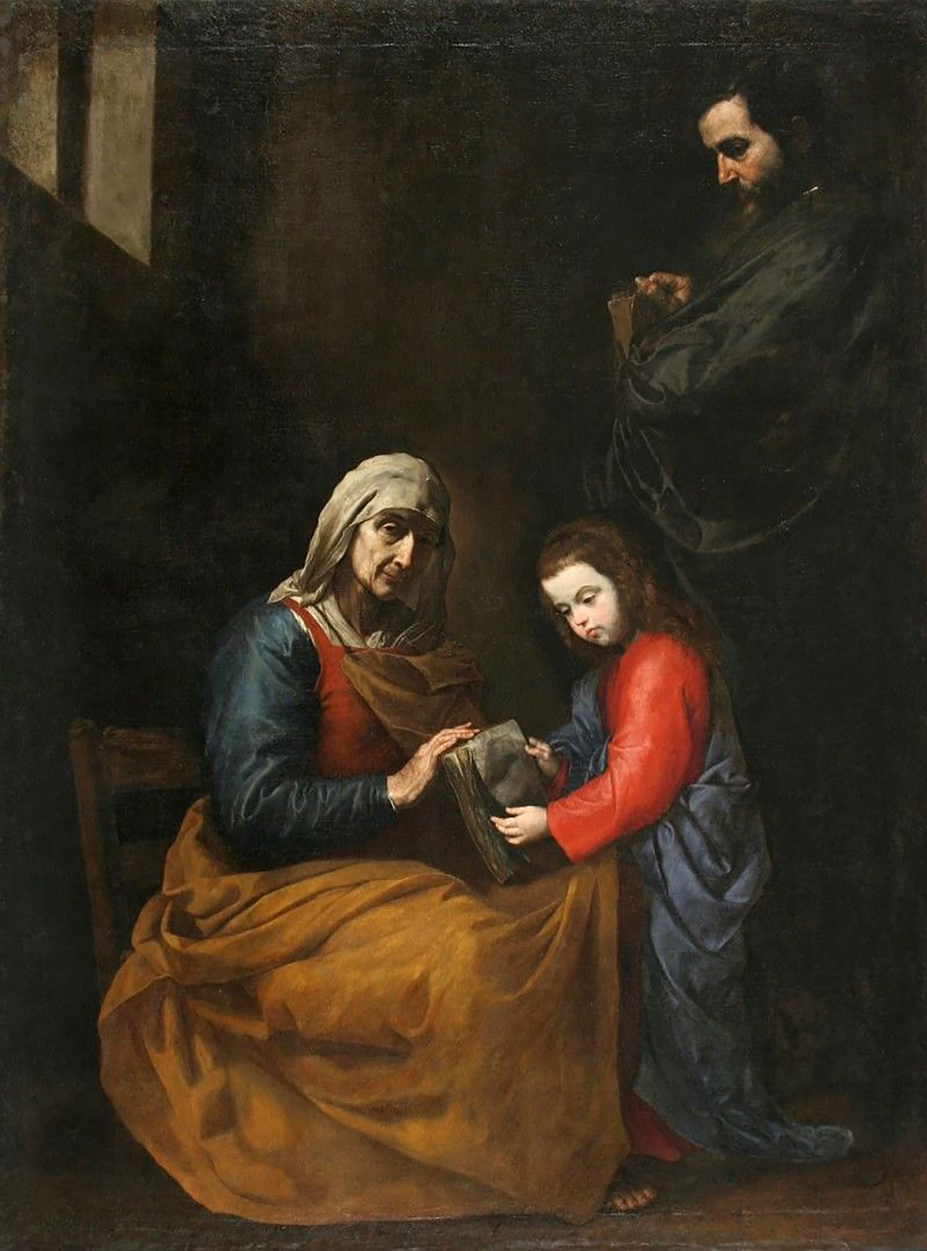 São Joaquim e Sant'Ana com a Virgem Maria criança