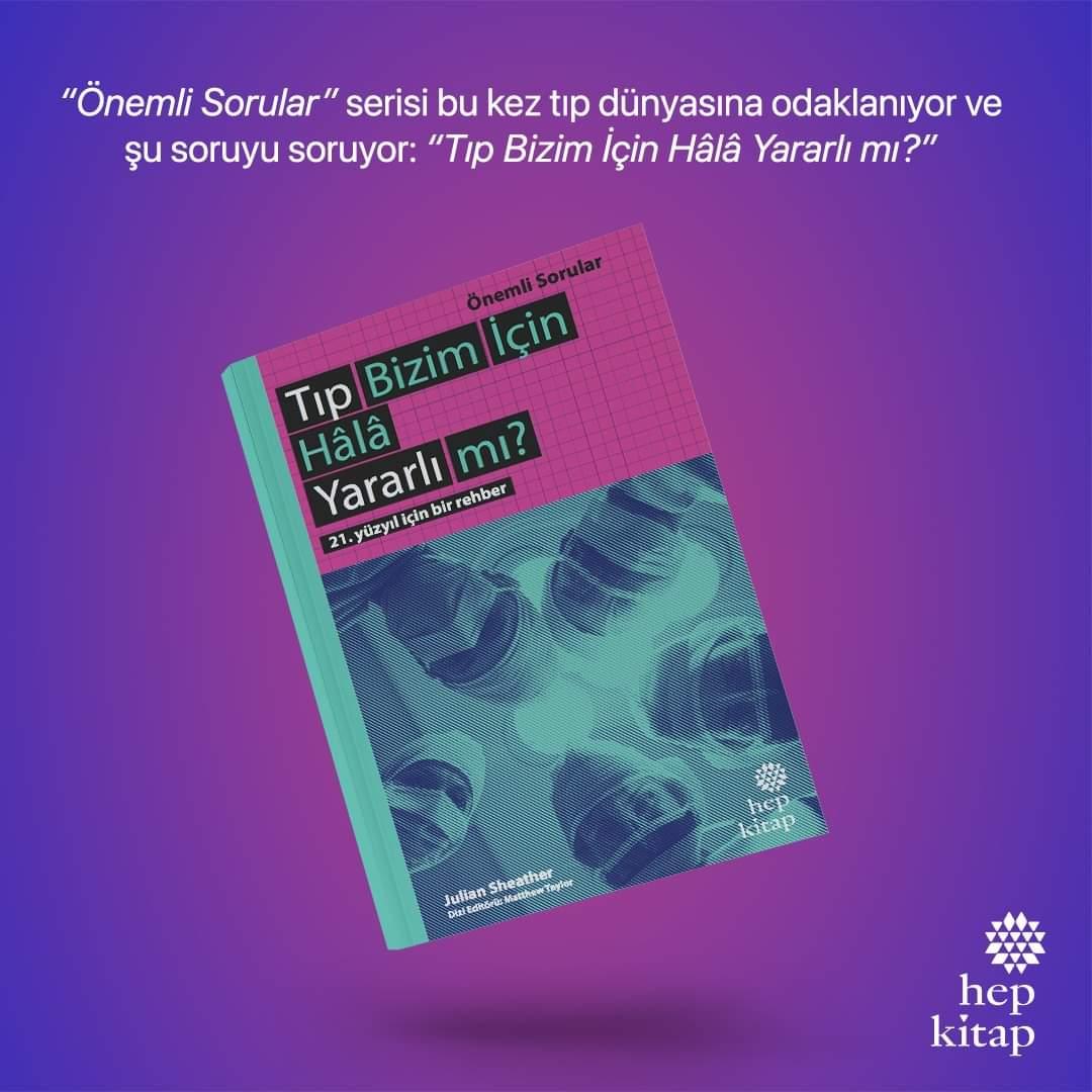 """İnsanlık tarihi boyunca tıp inanılmaz başarılar elde etti ama ne pahasına? """"Önemli Sorular"""" serisi bu kez tıp dünyasına odaklanıyor ve şu soruyu soruyor: """"Tıp Bizim İçin Hâlâ Yararlı mı?"""" #TıpBizimİçinHâlaYararlımı #hepkitap #tıp #insan #kitap #yayın #yazar #doktor #bookstragram"""