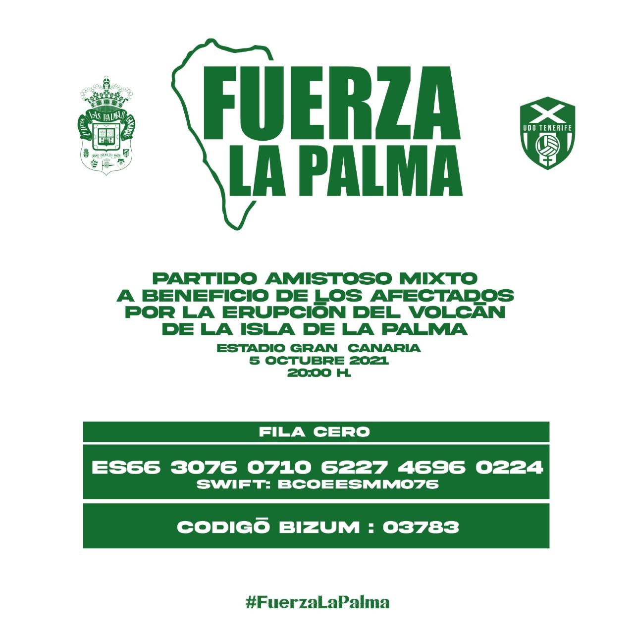 Todo preparado para el partido amistoso mixto Fuerza La Palma