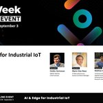 Image for the Tweet beginning: IOT Week AI4DI session on