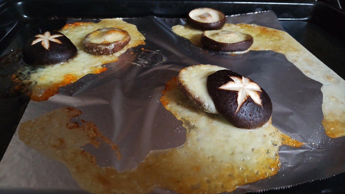マリトッツォを椎茸で真似したらカワイイと思って?カマンベールで作った結果!