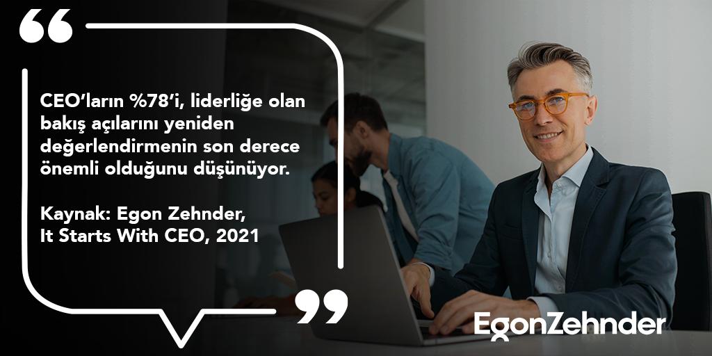 Başarılı liderlerin sürekli gelişim için kendilerini güncellemeleri; ekiplerini daha iyi yönlendirmek için yenilikçi bir düşünce yapısında olması gerekir. #EgonZehnder #ItStartsWithCEO #CEO