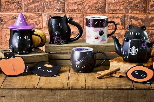もはや台湾のハロウィンの代名詞的存在になっている、台湾スターバックスの黒猫シリーズ。今年も登場しました♪🎃🐈⬛ 恒例のマグカップとタンブラーにガラスコップやストローも加わり、史上最多&最カワのラインナップです!これは全部…欲しいっ!!