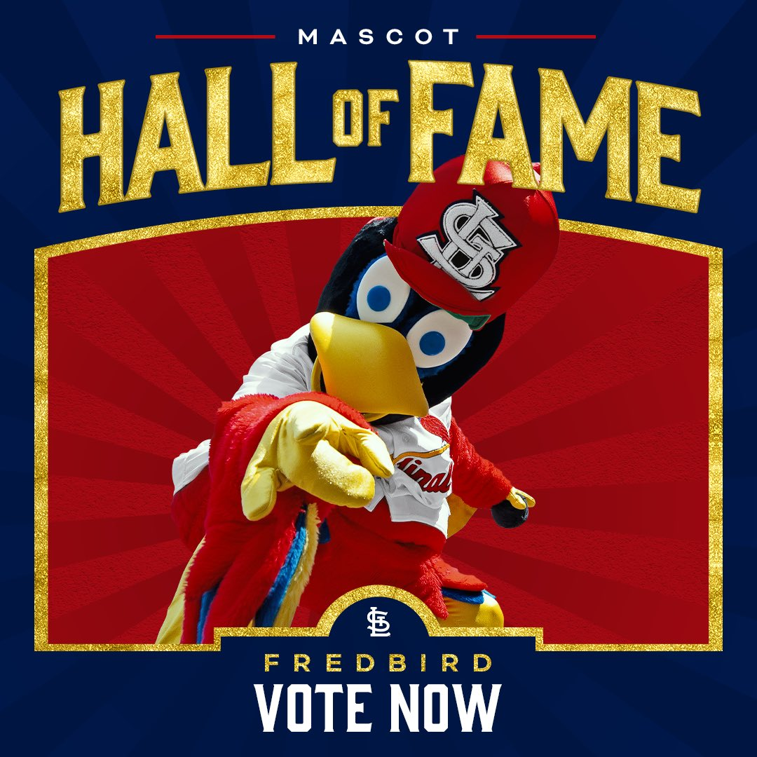It's official! Fredbird has made the ballot. Help get your favorite feathered friend into the Mascot Hall of Fame by voting all week long. Link in bio.
