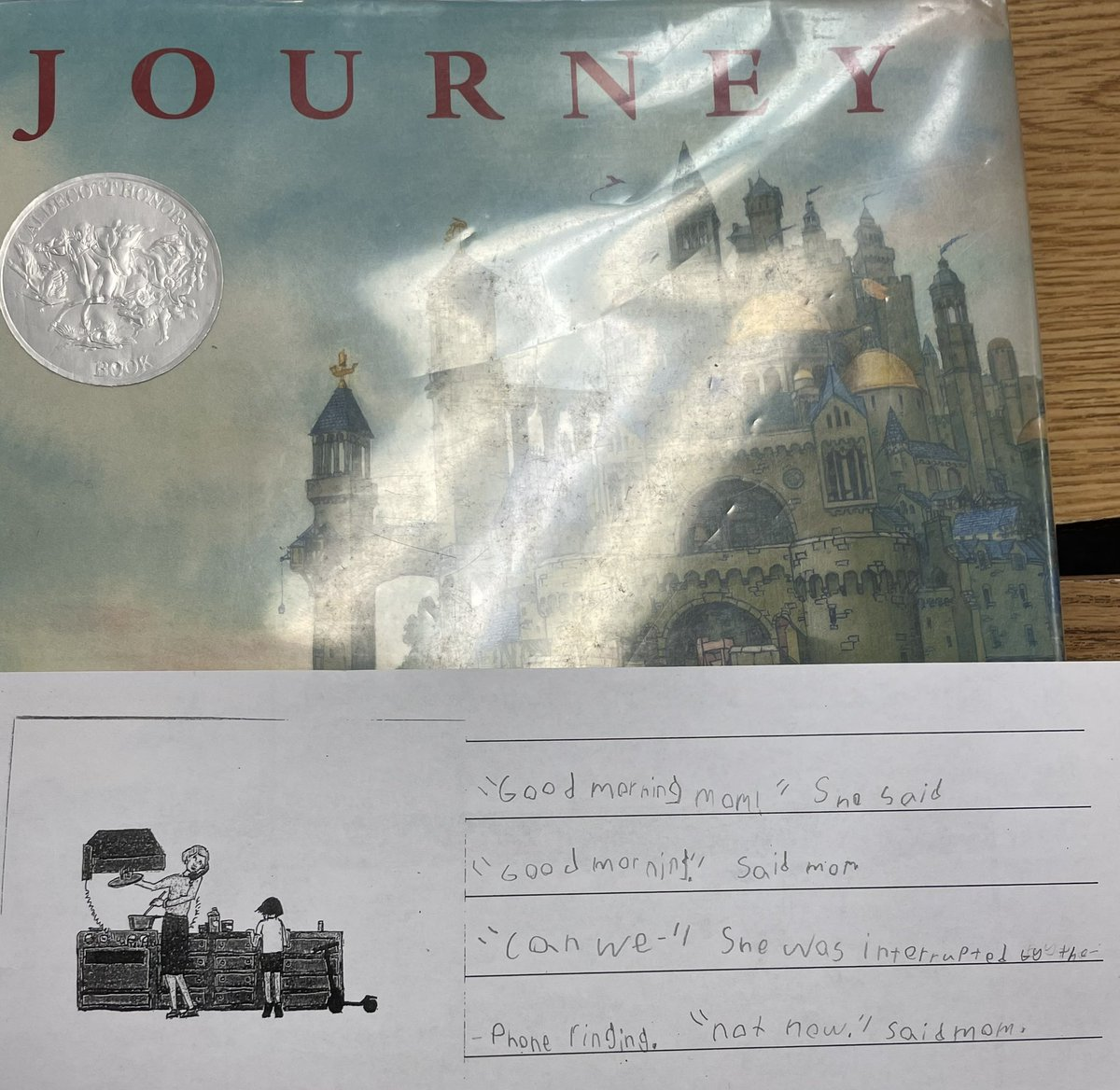 Students imagined and wrote text for the wordless picture book Journey <a target='_blank' href='http://twitter.com/APSGifted'>@APSGifted</a> <a target='_blank' href='https://t.co/dhIN7wFsjk'>https://t.co/dhIN7wFsjk</a>