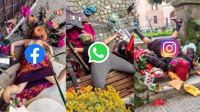 Caída de Facebook, WhatsApp e Instagram.