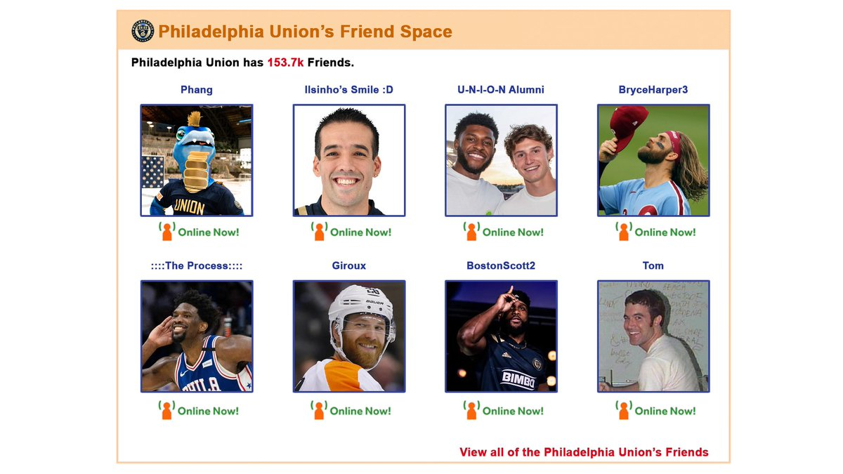 Just in case MySpace makes a comeback we've got our Top 8 ready