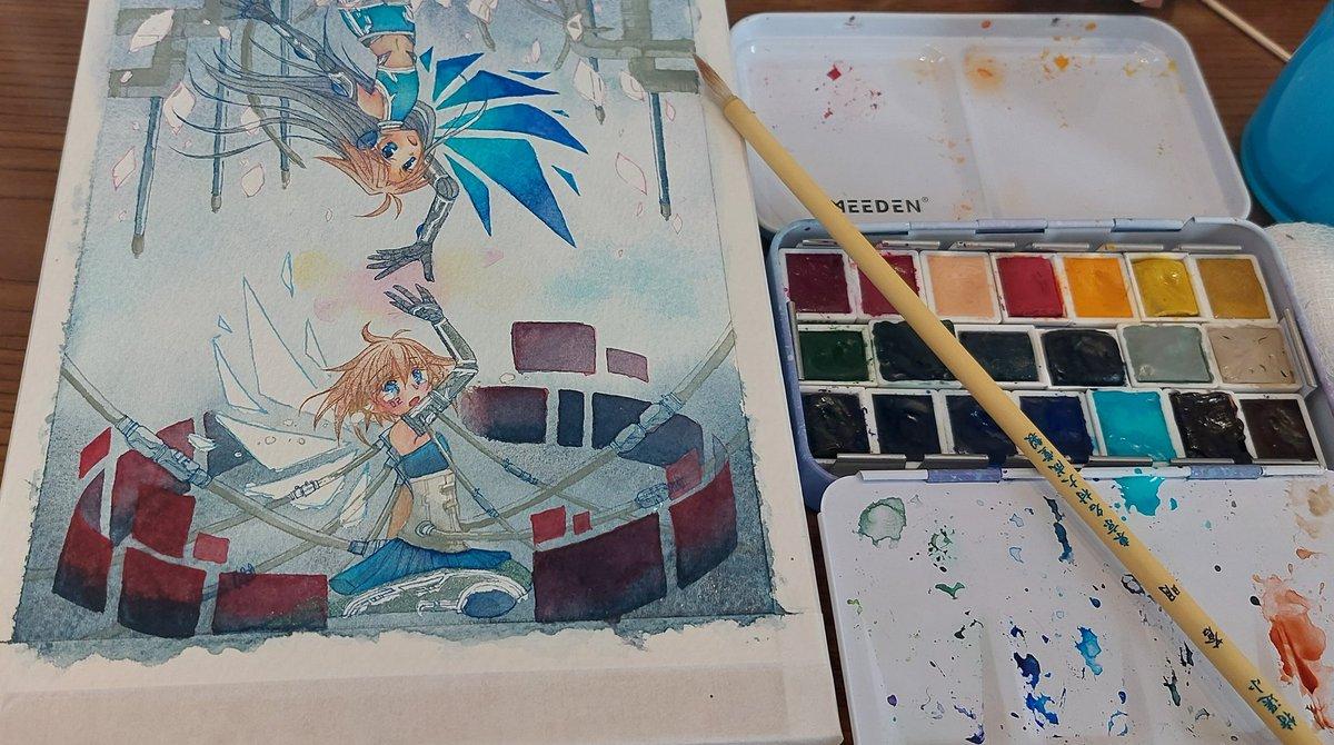 小学生の女の子がはじめて書いた水彩画...これは絶対ビックになるぞ