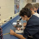 Image for the Tweet beginning: Learning to use microscopes in