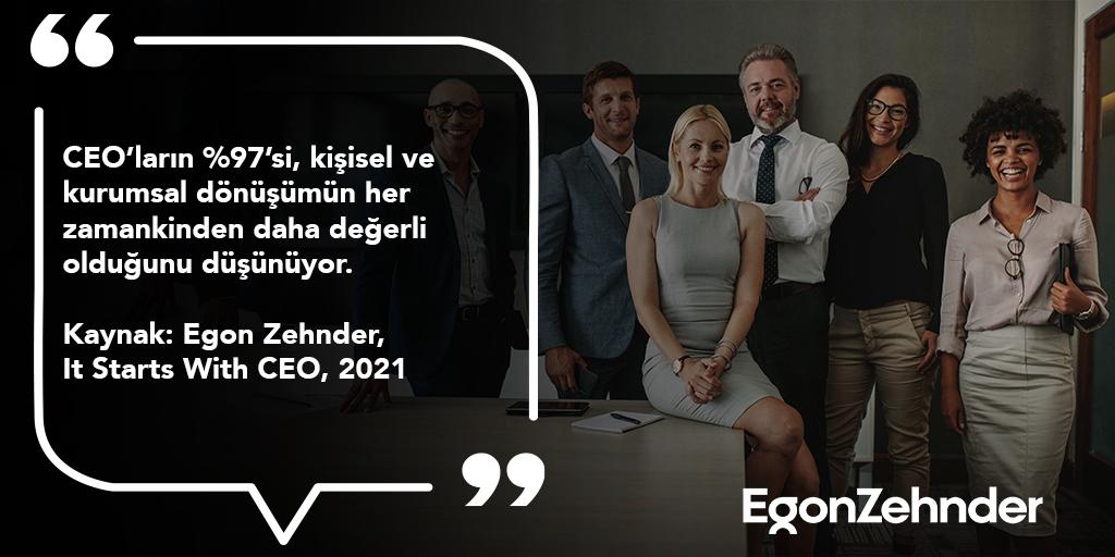"""""""Normal"""" kavramı tamamen şekil değiştirmişken, çalışma kültürlerinin sabit kalması mümkün görünmüyor. #EgonZehnder #ItStartsWithCEO #CEO"""