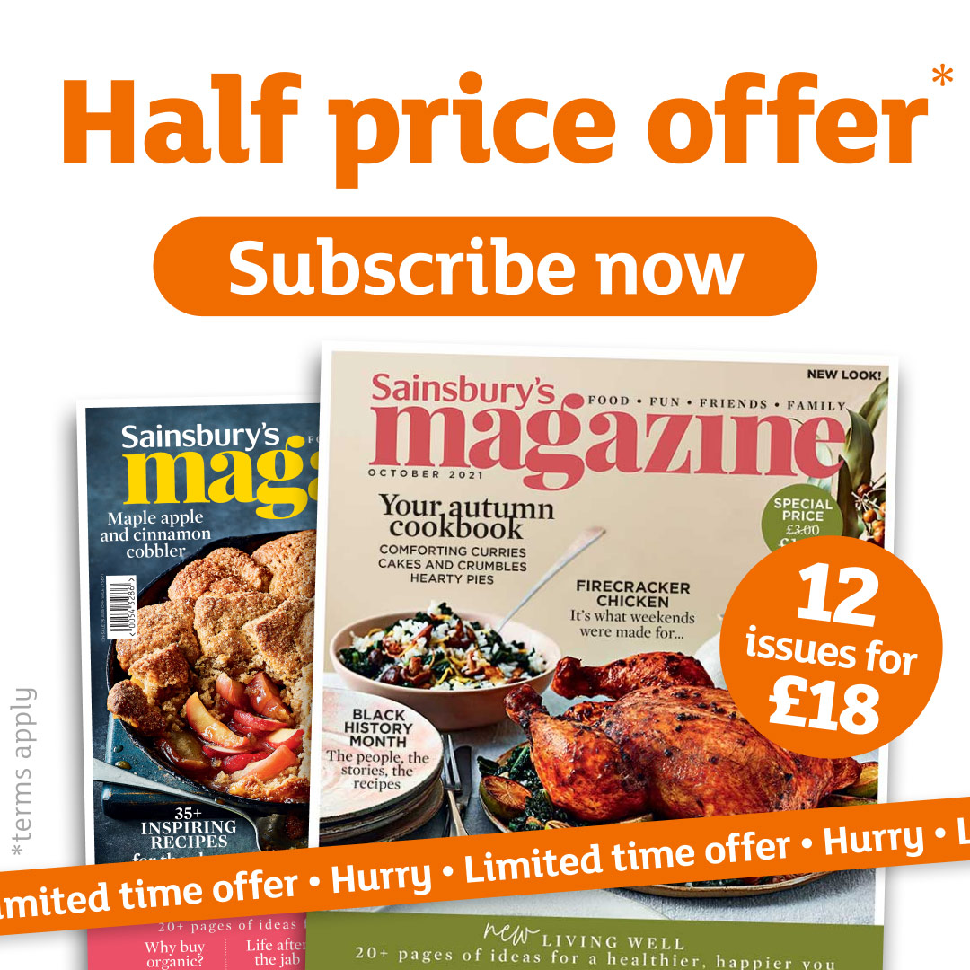 🎉 Half price offer: subscribe to @SainsburysMag today and get 12 issues delivered to your door for just £18. Hurry – offer ends soon! Subscribe here: spr.ly/6014yhHRw