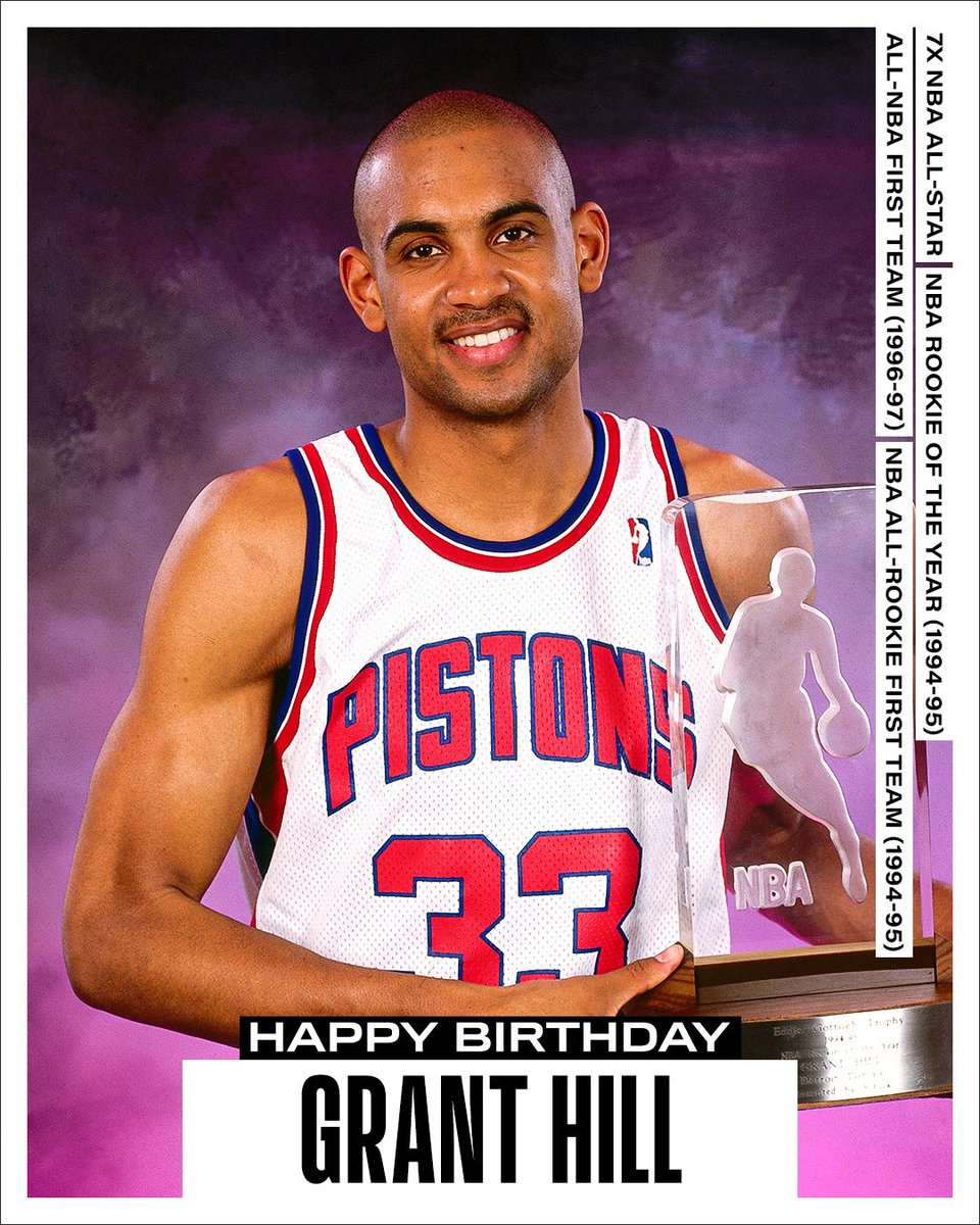 Join us in wishing a Happy 49th Birthday to 7x #NBAAllStar and @Hoophall inductee, Grant Hill! #NBABDAY