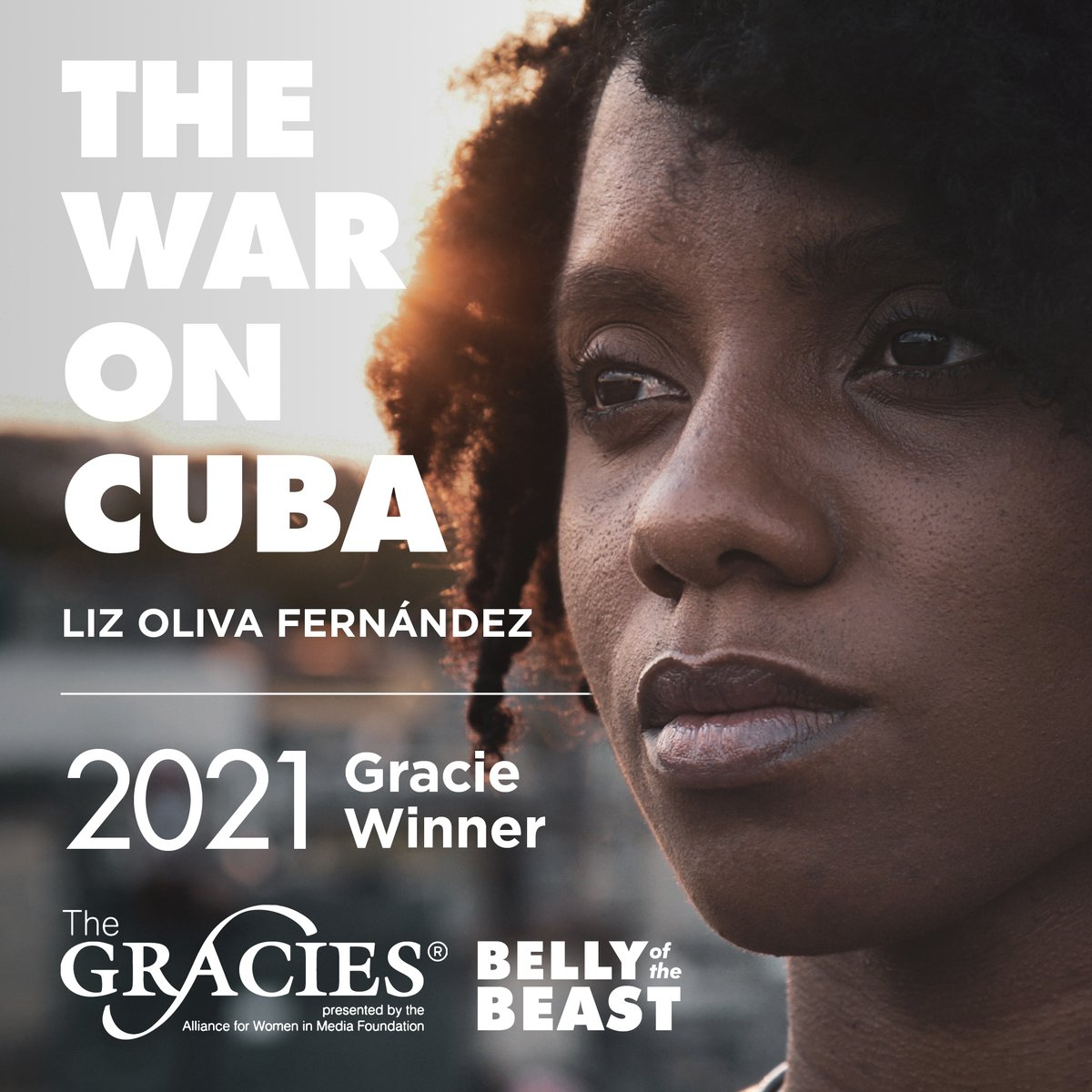 Tonight's the night! ✨ Liz Oliva Fernández's Gracie win and work will be acknowledged in one of the video montages available on @allwomeninmedia's website. Tune in for the virtual event tonight at 7PM ET/PT on Facebook! #TheGracies bit.ly/46thGracies