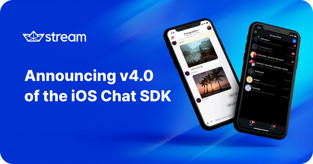 We are excited to share the latest update to our iOS Chat SDK 🥳 In this update, we focused on improving the developer experience, customizability, and much more 😎. Check out our blog post to learn more 🔗: gstrm.io/ios-v4 #iOSDev #iOS #Swift