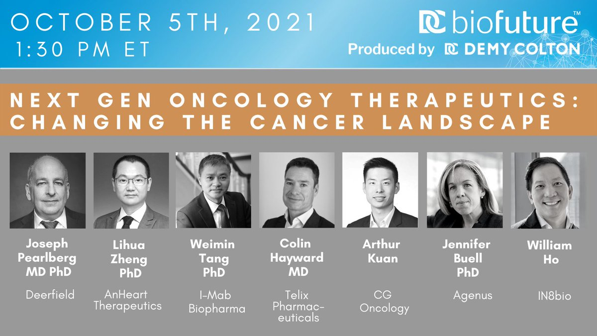 """test Twitter Media - Tune in today, at 1:30pm EST, to hear @jbuell01 speak at the BioFuture 2021 panel, """"Next Gen Oncology Therapeutics: Changing the Cancer Landscape.""""  https://t.co/qFVR2GlF0m https://t.co/DrwguvMfAQ"""