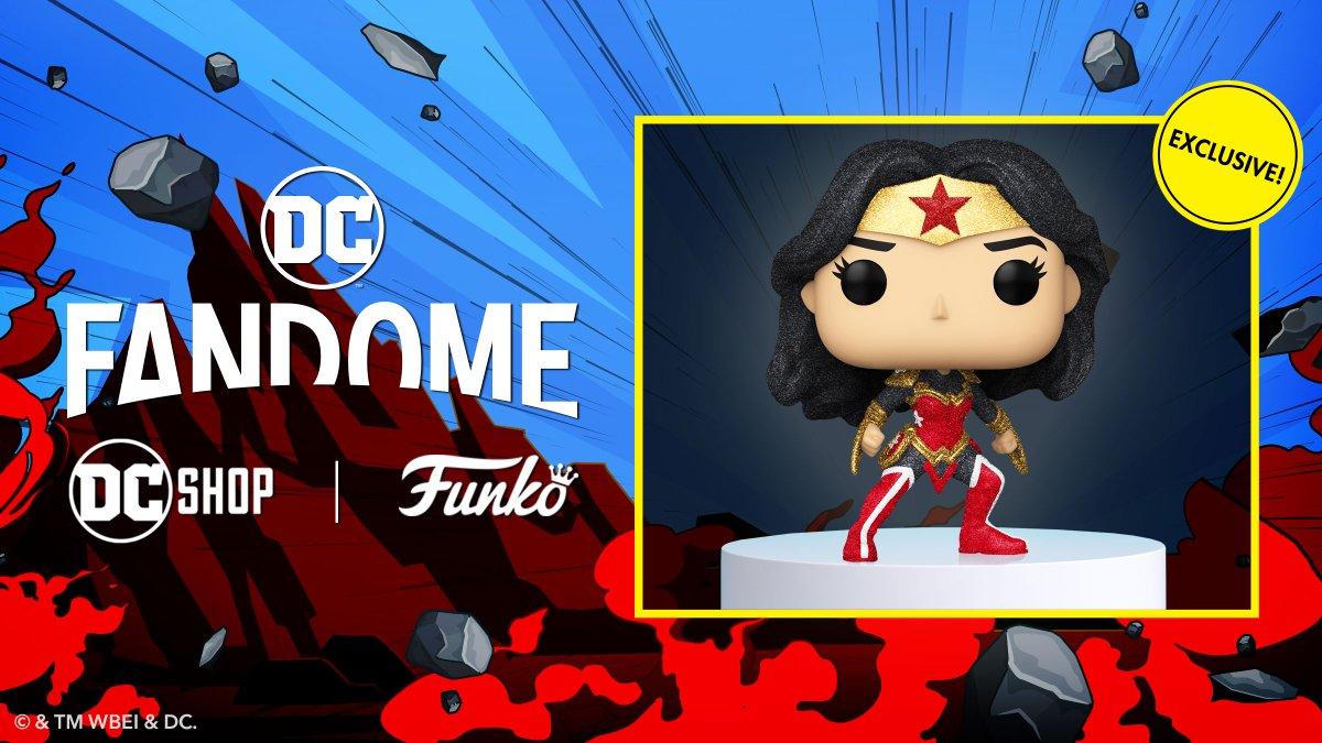 Embrace the power of wonder and pre-order the DC Shop exclusive Wonder Woman Diamond Glitter Funko Pop! Limit two per order: bit.ly/3Bdanqu @originalfunko #DCFanDome