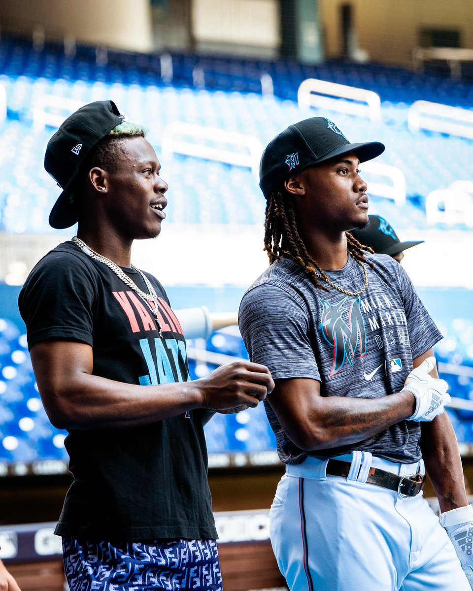No time to waste. Marlins Fall Development Camp is in full swing with a special guest. #305OnTheRise