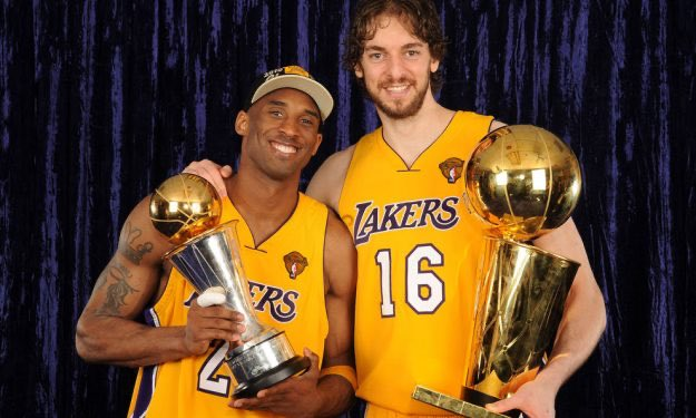 Pau Gasol: I want to make a special mention to Kobe Bryant. I'd very much like him to be here but life is sometimes very unfair. He taught me how to be a better leader, better competitor, what it meant to be a winner.   #Hermanos #MambaForever #LakeShow #thankyoupau