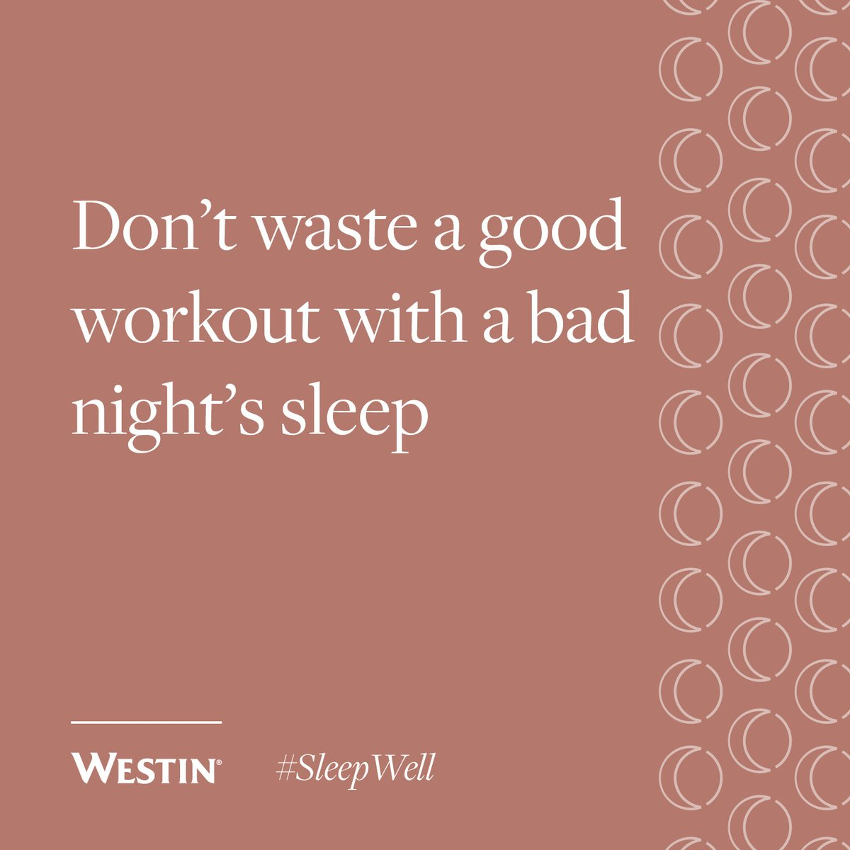 Rest is crucial to recovery. #SleepWell