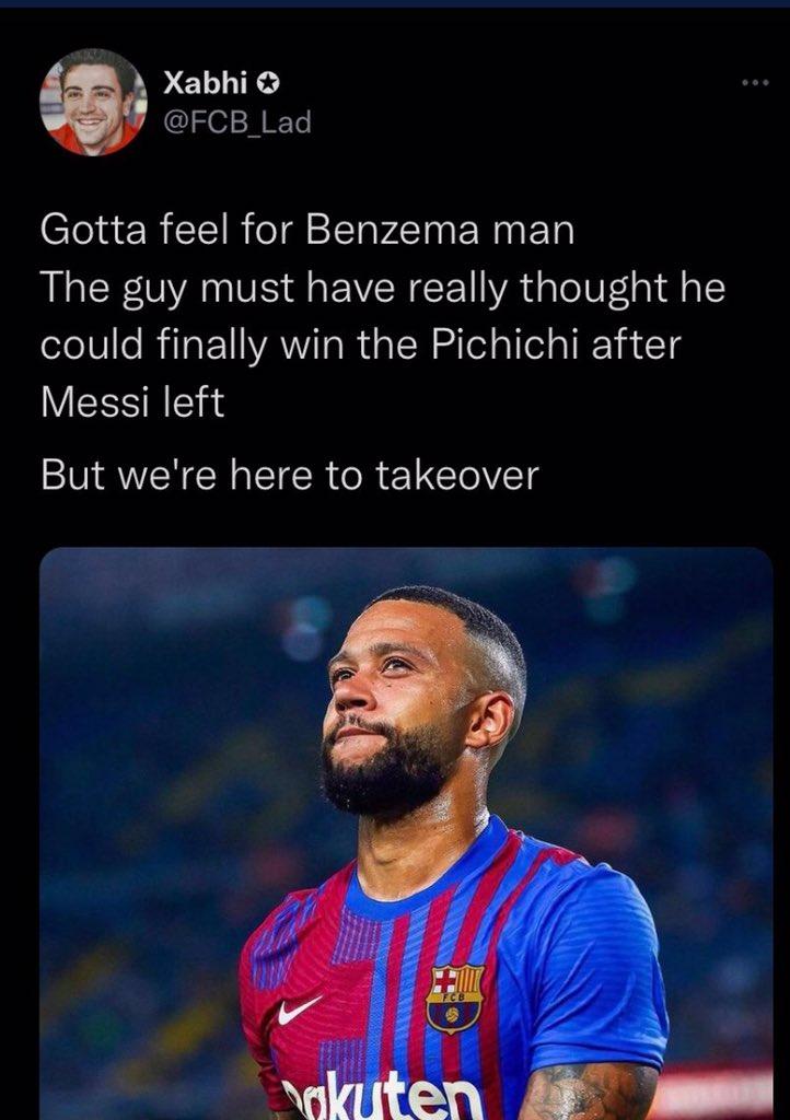 RT @Ani7ii: Since this tweet, Memphis Depay has 0 goals while Benzema has 6 goals. https://t.co/fWLr2pRATh