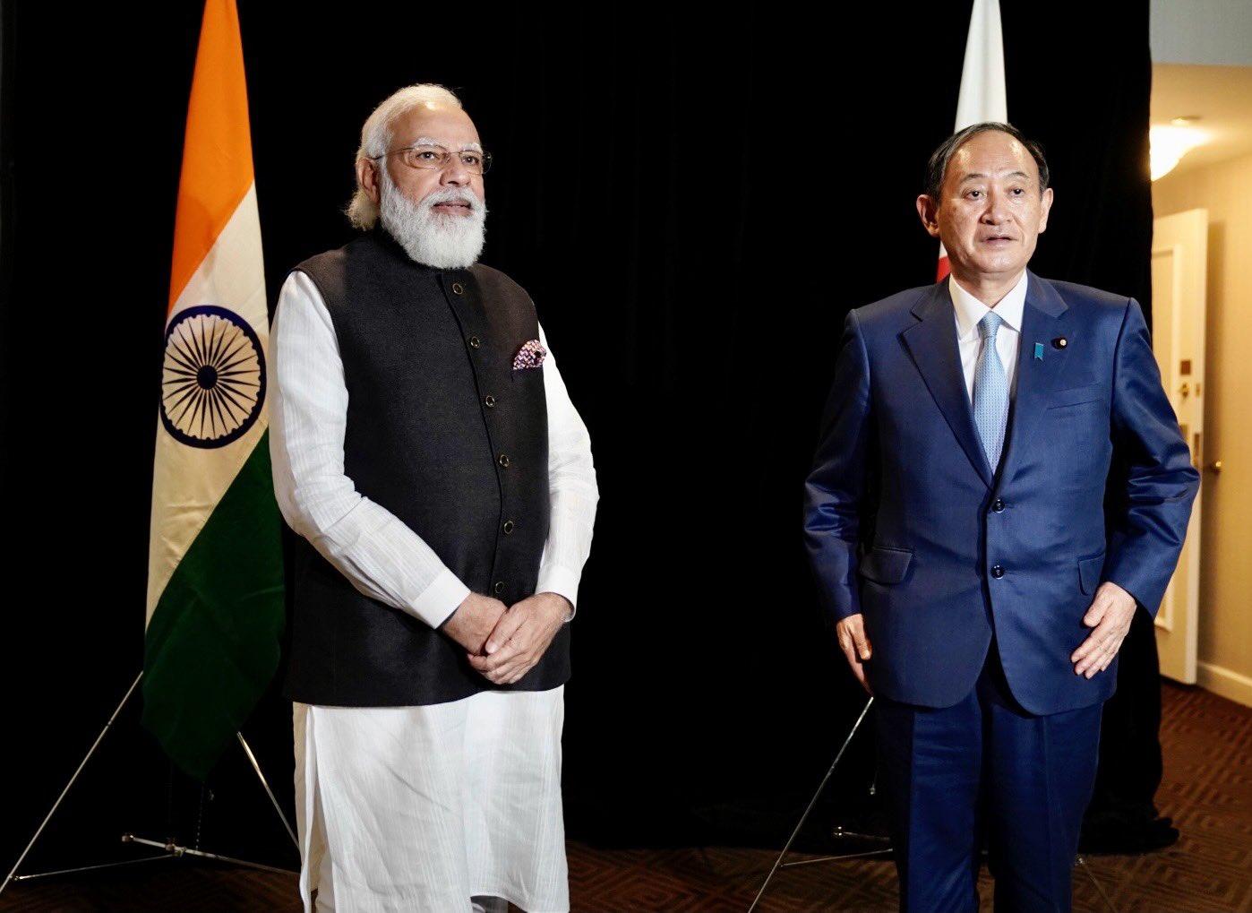 प्रधानमंत्री मोदी ने मुंबई-अहमदाबाद हाई स्पीड रेल परियोजना पर जापान के प्रधानमंत्री सुगा योशीहिदे से चर्चा की