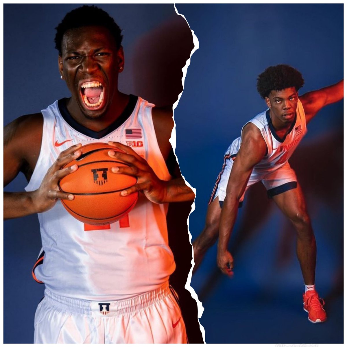 """🔶🔷Twin towers for 40 minutes; Kofi 7' 290 lbs; Omar 6'10 240 lbs with a 7' 5.5"""" wingspan that enables his shot-blocking and finishing at the rim, #tuffff."""