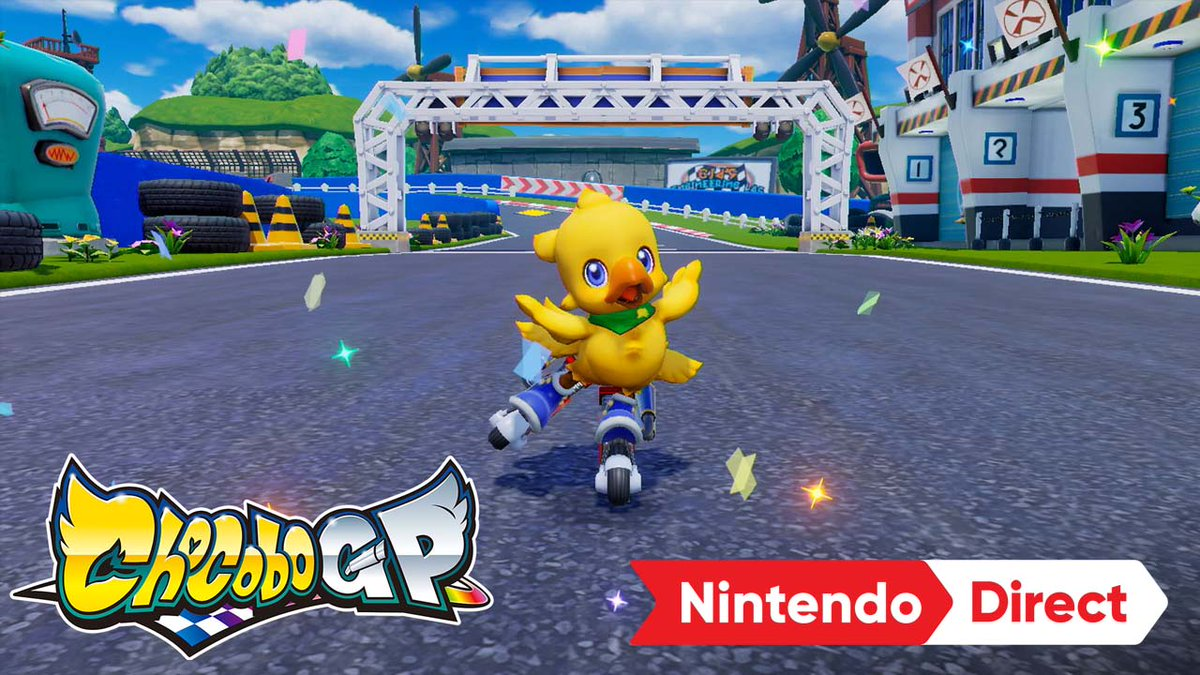 Ready… Set… CHOCOBO!  A racing experience featuring Chocobo and FINAL FANTASY characters comes to #NintendoSwitch in 2022! In #ChocoboGP, race across familiar FINAL FANTASY and Chocobo tracks, and use special character abilities and Magicites to speed past the competition. https://t.co/ZwnheH0jcS