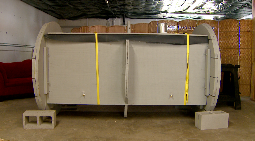 For the first time in Colorado, a family has chosen to compost their loved ones' remains  The new law went into effect Sept 7, making CO second state in the country to allow human body composting  After 6 months in this 'vessel' the body will over time decompose into soil #9News