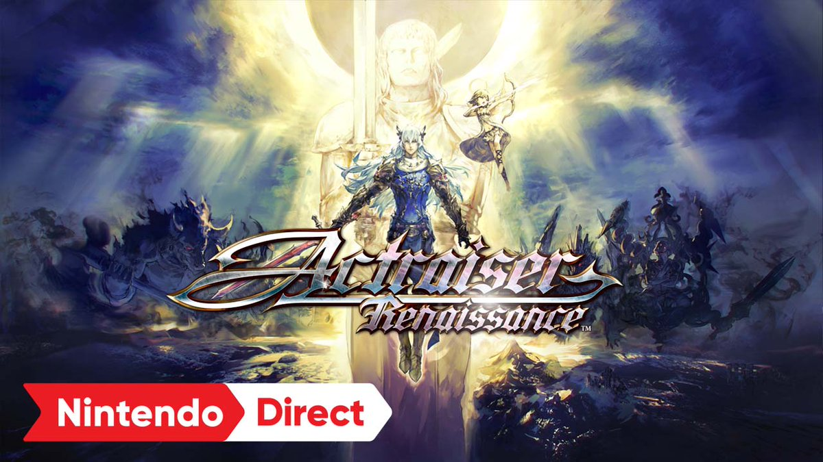 The SNES classic, Actraiser, has been reborn as Actraiser Renaissance. Fully remastered with HD graphics, rearranged & brand-new music, new stages & boss battles. A unique blend of side-scrolling action & world building creation awaits…starting today!  https://t.co/7RULSvReY2 https://t.co/ro72WeyNOc