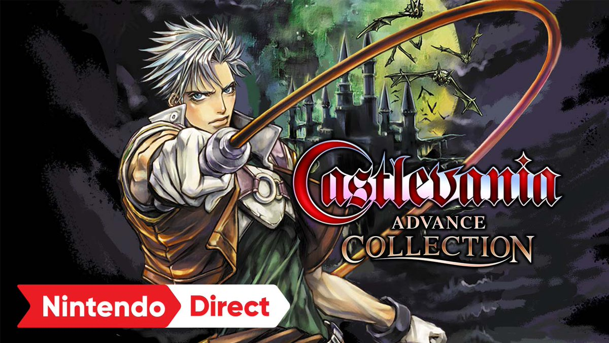 Four #Castlevania classics have arisen in one action-packed collection!   ✅ Castlevania: Circle of the Moon ✅ Castlevania: Harmony of Dissonance ✅ Castlevania: Aria of Sorrow  ✅ Castlevania: Dracula X  Castlevania Advance Collection is available now!  https://t.co/BMfz3jLCvW https://t.co/ZB4sIXwj4M