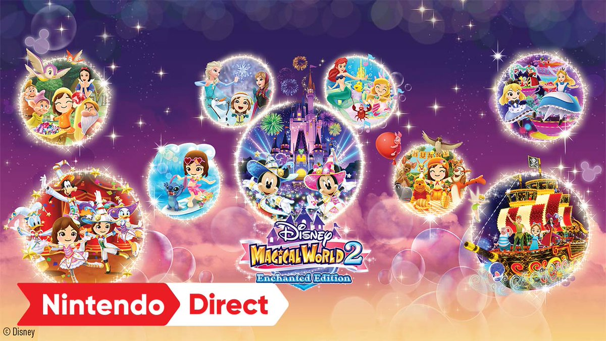 Join dozens of iconic Disney characters and make a new home in the wonderful world of Disney! Explore Disney-themed worlds and embark on fun adventures in Disney Magical World 2: Enchanted Edition, soaring onto Nintendo Switch this holiday. #NintendoDirect https://t.co/e22vLfYuMU