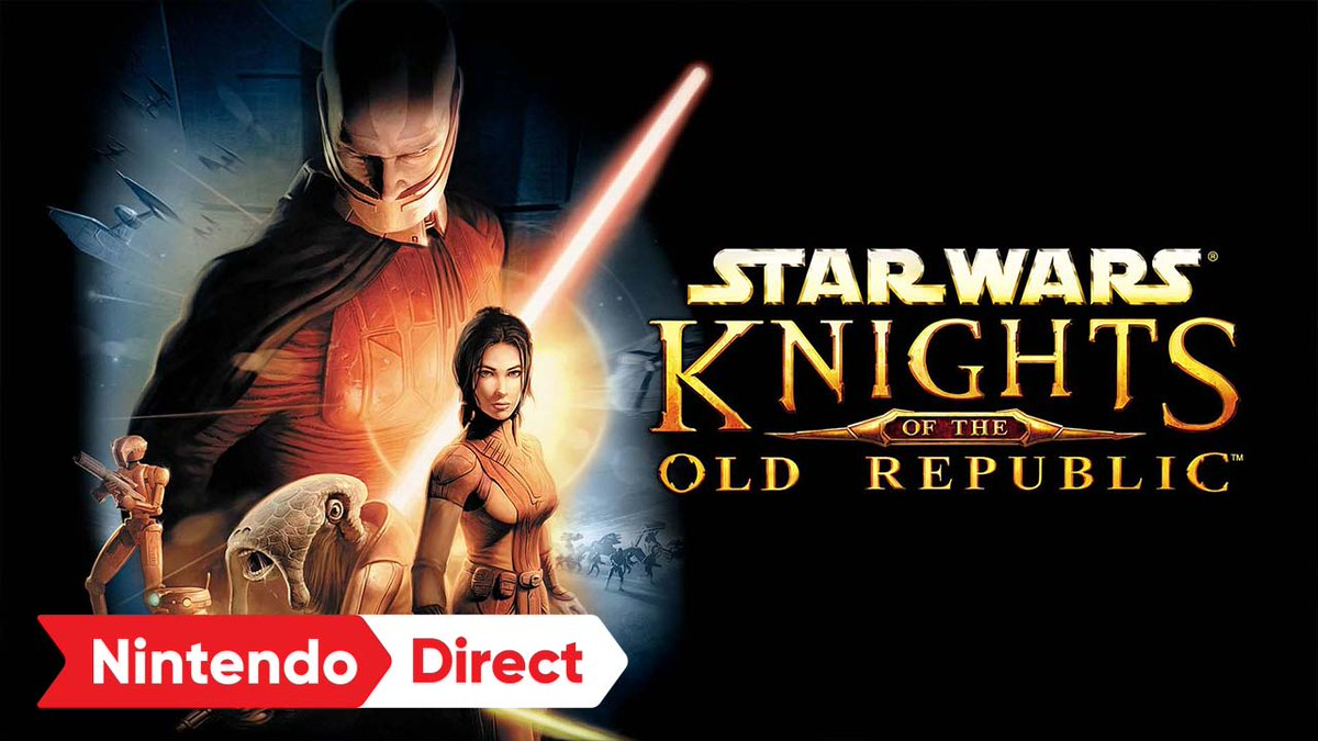 Join forces with Jedi, droids, and outcasts in this legendary RPG classic.  Wield the force & save the Republic…or embrace the dark side. STAR WARS: Knights of the Old Republic arrives on #NintendoSwitch 11/11. #NintendoDirect  https://t.co/QKoU517XMZ https://t.co/aNzb9vF4B0
